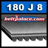 180j8 Poly V Rib Ace, 180j8 Motor Drive Belt